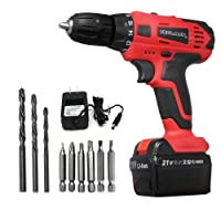 Toolman 21v Cordless Lithium Drill with 1pc Battery, drills sets and 1pc 2hour quick charger ZTP008