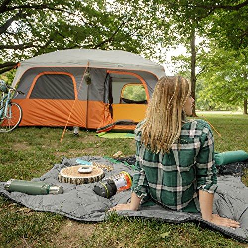 CORE 10 Person Straight Wall Cabin Tent – 14′ x 10′