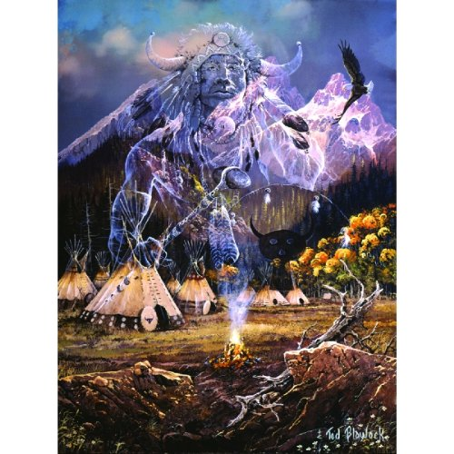 American Teepee Native Indian (Spirit of the Flame 1000 pc Jigsaw Puzzle)