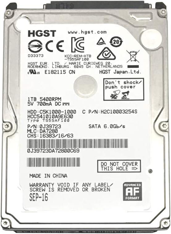 HGST HCC541010A9E630 1TB 5400RPM 8MB SATA 6Gb/s (9.5mm) 2.5inch Notebook Hard Drive - 3 Year Warranty