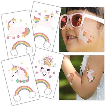 Amazon.com: Gooji Unicorn Temporary Tattoos (32-Pack) Party Favors ...