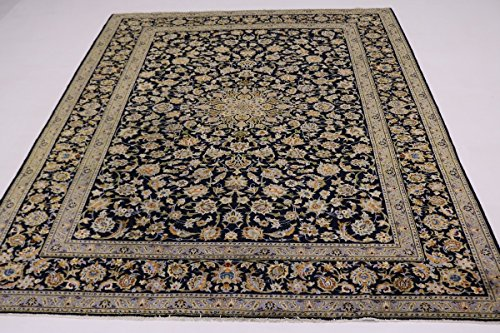 - Stunning S Antique Traditional Navy Kashan Persian Style Rug Oriental Area Carpet 9X12