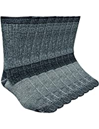 Working Person's 689 Black 4-Pack Merino Wool Hiking Socks - Made In The USA
