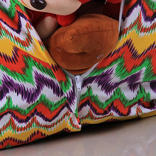 Bolso de suave la raya almacenamiento D de de bolsa del bolsa de la bolso del de la zarupeng frijol la del tela peluche 4FR4wd