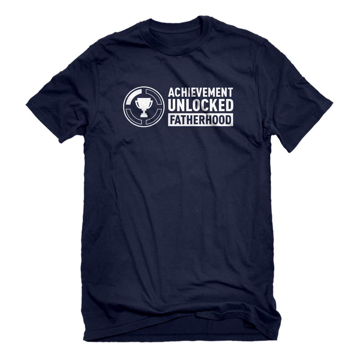 Indica Plateau Mens Achievement Unlocked Fatherhood T-Shirt