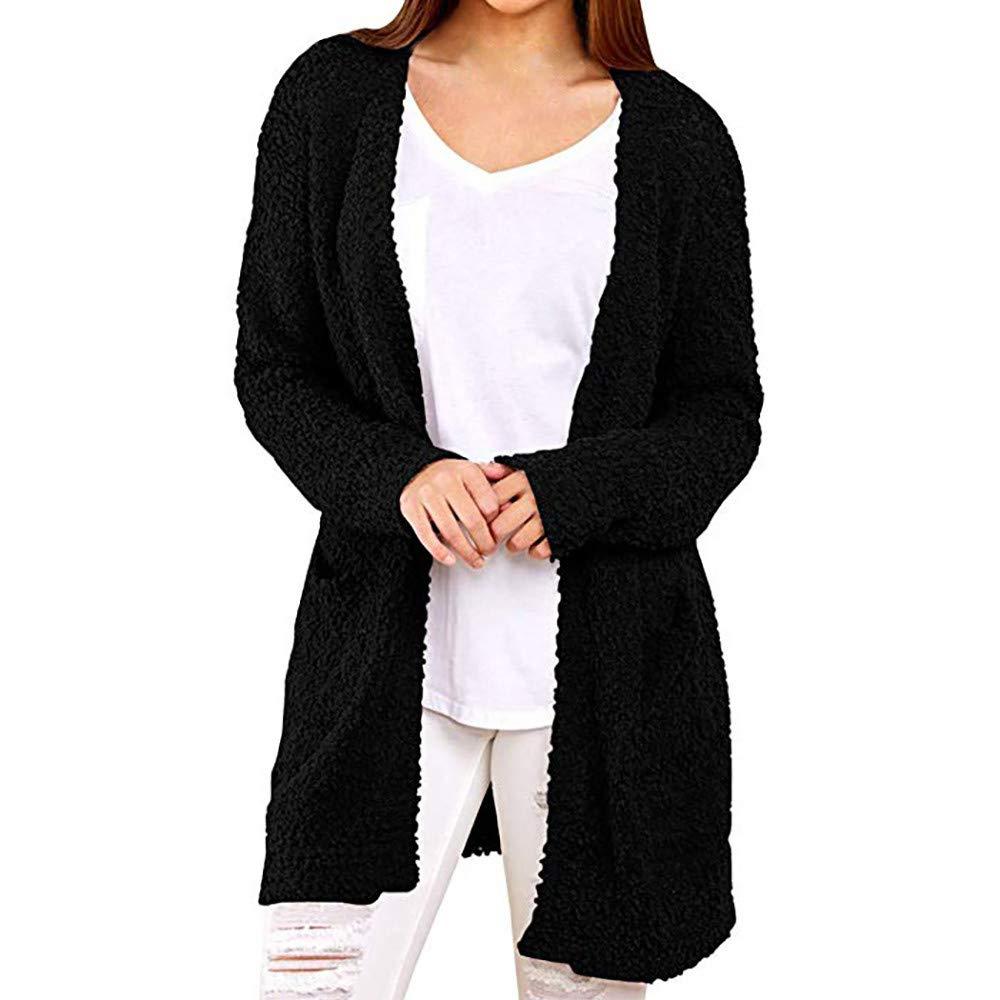 Rawdah- Clearance, Cappotti Donna Invernali Giacche 3 in 1 da Escursionismo da Donna Casuale Felpa Solido Inverno Caldo Lana Tasche Cappotto Outwear