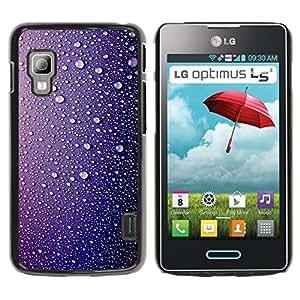 TopCaseStore / la caja del caucho duro de la cubierta de protección de la piel - Rain Drops Water Shiny Sad - LG Optimus L5 II Dual E455 E460