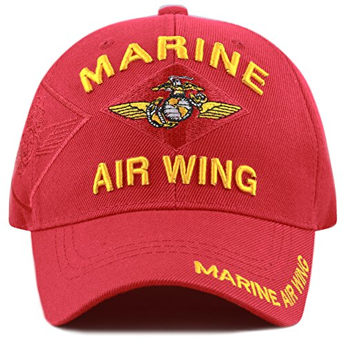 Marine Air Wing - THE HAT DEPOT 1100 Official Licensed Military 3D Embroidered Logo Cap (Marine Air Wing)