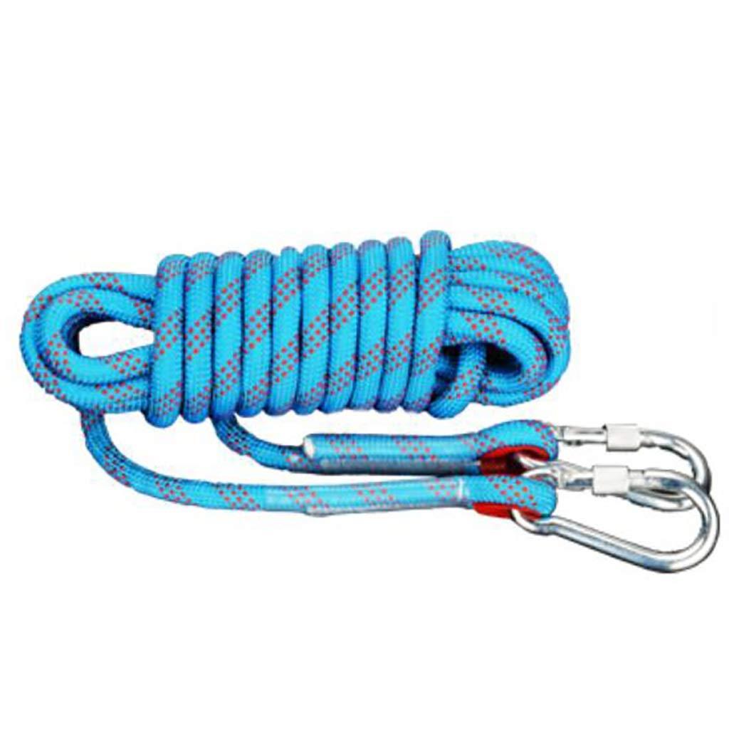 A KTYXDE Corde d'escalade Corde de Sauvetage Sauvetage Sauvetage aérien Travail Vitesse Corde de Chute Corde en Nylon MultiCouleure Multi-Taille en Option Corde d'escalade (Couleur   C, Taille   14mm 15m) 12mm 15m
