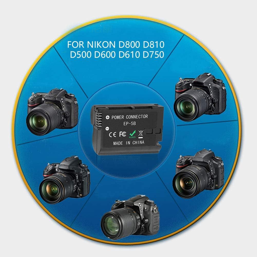 EN-EL15 Dummy Battery EP-5B DC Coupler for Nikon D800 D810 D500 D600 D610 D750 D7000 D7100 D7200 and More Cameras