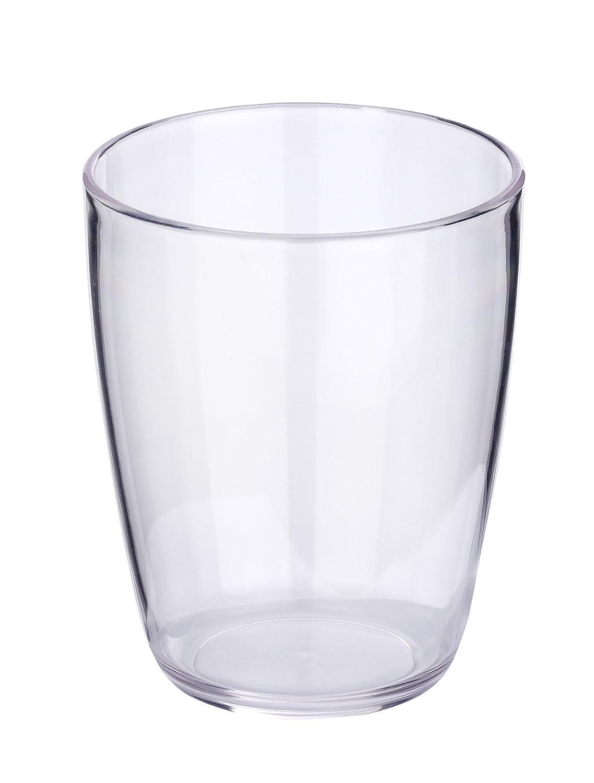 Wenko Loft - Bicchiere per spazzolini da Denti Cocktail, 8,0 x 8,0 x 10,2 cm, Plastica, Arancione, 8.8x8.0x10.2 cm 21972100