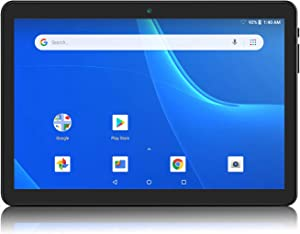 Android Tablet 10 Inch, 5G WiFi Tablet, 16 GB Storage, Google Certified, Android 8.1 Go, Dual Camera, Bluetooth, GPS – Black