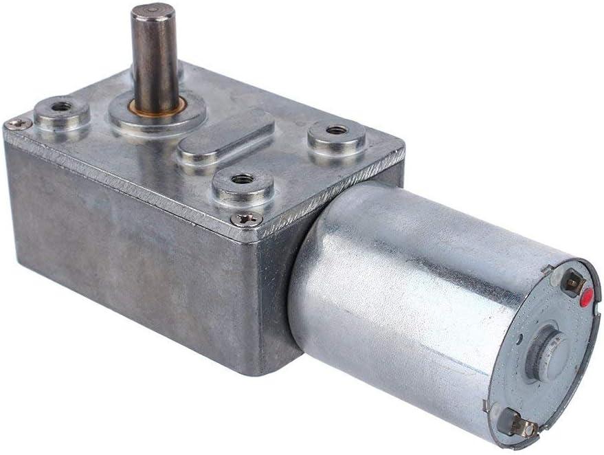 Motor reductor de gusano reversible de alto par Motor de reducción de CC 12V CW/CCW(20RPM)
