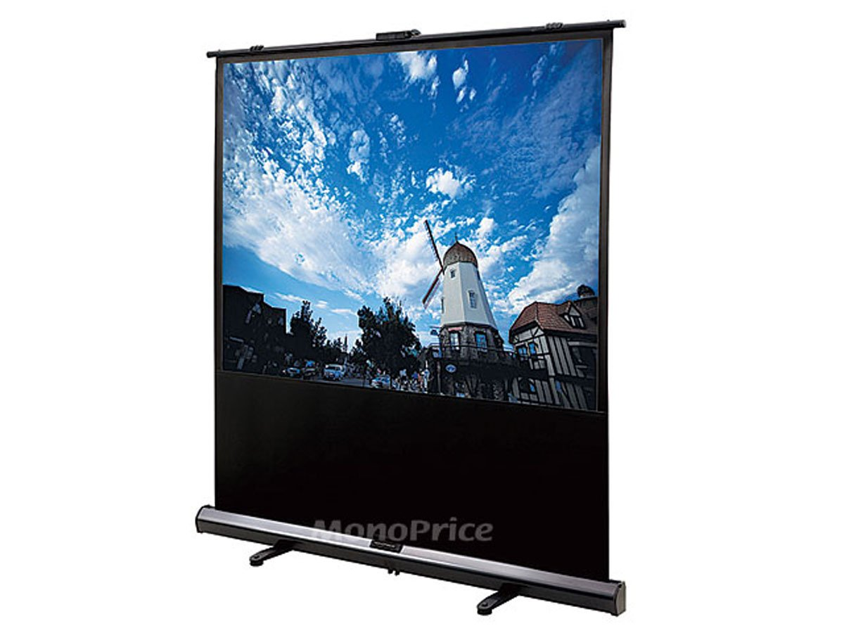 Monoprice Portable Pull-UP Projection Screen - White Fabric, 100-Inch (108006)