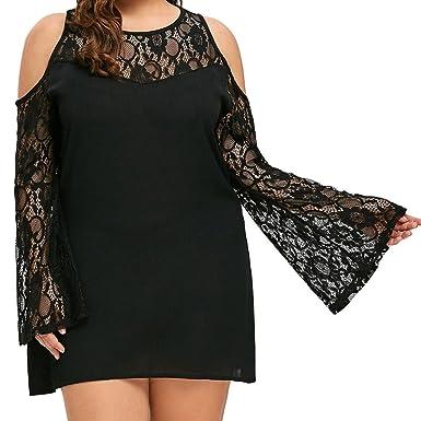 9602ea9fb0234 DAY8 Femme Vetements Chic Robe Femme soirée Grande Taille ete Vetement  Femme Pas Cher Fashion Robe de Princesse Fille Robe Noire Femme Dentelle  Printemps ...