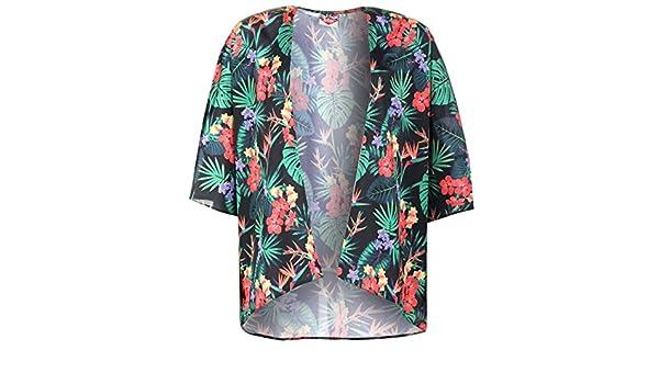 Lee Cooper Tropical Floral Print Kimono - azul marino camisa blusa chaqueta, azul marino, medium: Amazon.es: Deportes y aire libre