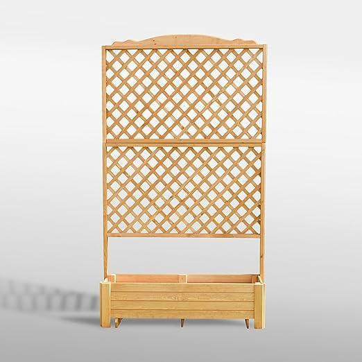 Promex – Celosía de madera con Romantica 120 x 200 cm: Amazon.es: Jardín