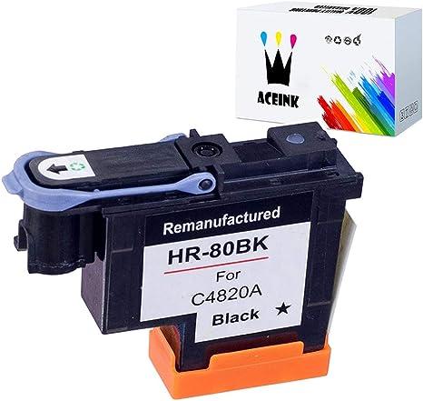 Amazon.com: AceInk - Cabezal de impresión HP80 negro C4820A ...