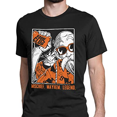 Tee No Evil Kame Club Goku Master Roshi T Shirt for Men | .com