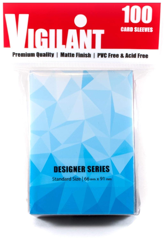 Vigilant Card Sleeves & Deck Protectors, 100 Card Sleeves, Standard Size, Premium Matte Finish, Designer Art Print (Glacier) Nephilim Brands
