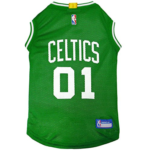 NBA BOSTON CELTICS DOG Jersey, X-Large - Tank Top Basketball Pet Jersey ()