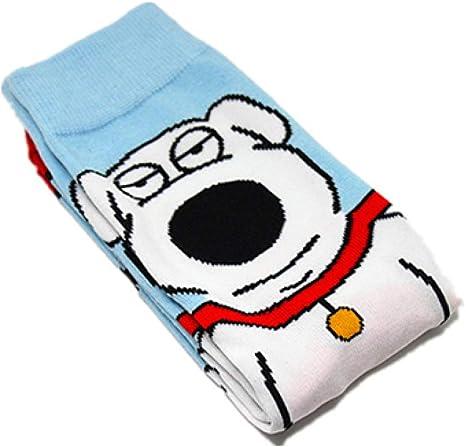 WZQQ 1 par de Calcetines de algodón para Hombre Personaje de Dibujos Animados patrón Fiesta Novedad Calcetines Divertidos Calcetines Transpirables de Confort para Hombre, G: Amazon.es: Deportes y aire libre