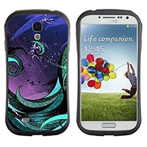 Hybrid Anti-Shock Bumper Case for Samsung Galaxy S4 / Abstract Art Painting