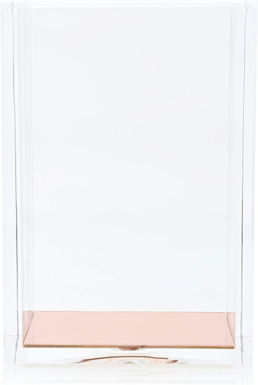 Juvale Portamatite Trasparente con Fondo in Oro Rosa Organizer per cancelleria in Acrilico Organizer da scrivania 3,1 x 4,5 x 3,1 cm Moderno Accessorio da Ufficio