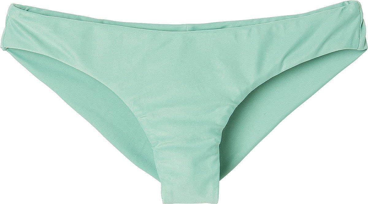 RVCA Womens Solid Low-Rise Cheeky Swimsuit Bikini Bottom Swimsuit Bottoms