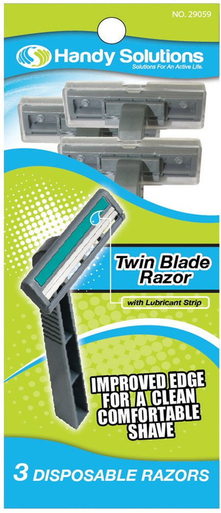 Handy Solutions 3-pack Men's Twin Blade Razors 144 pcs sku# 1869526MA by Handy Solutions