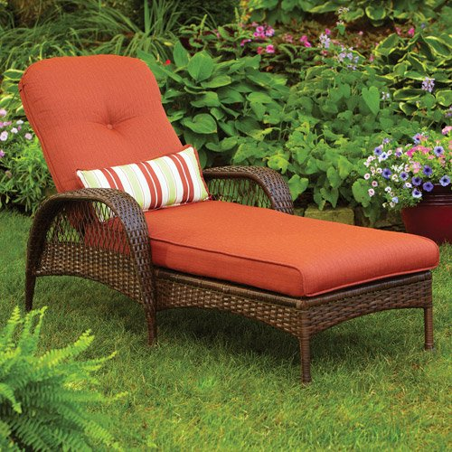 (Better Homes and Gardens.. Durable Steel Frame Chaise Lounge (Orange))