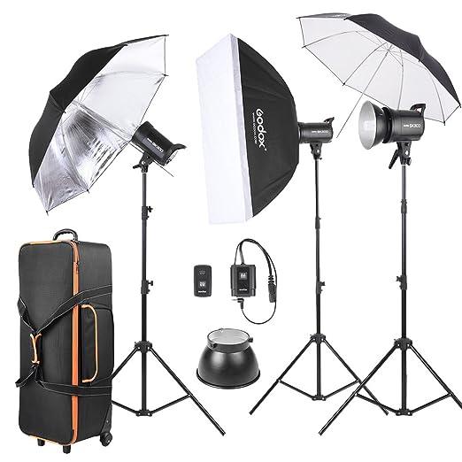 1 opinioni per Godox SK300-D Kit di 3 *300WS Studio Strobe Flash Photo Luce+ 3 * Basamento