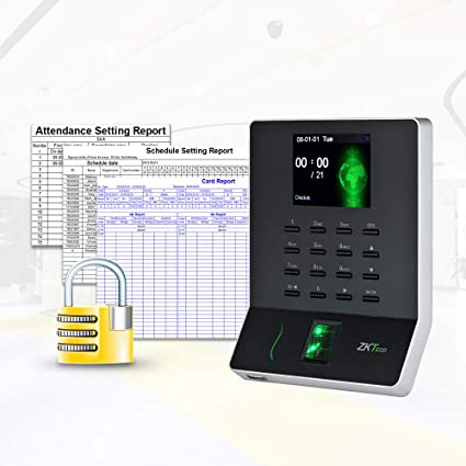 ZKTeco Fingerprint Attendance Machine Biometric Time Clock for Employee  Small Business