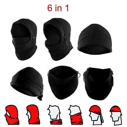 3fbb5cad86f Amazon.com  Opromo Kids   Adult Winter Fleece Balaclava Hood Snood Ski Face  Mask Cycling Hat  Clothing