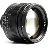 7artisans 50mm F1.1マニュアルレンズ Leica MマウントM-M M240 M3 M6 M7 M8 M9p M10 カメラ適用レンズ- ブラック