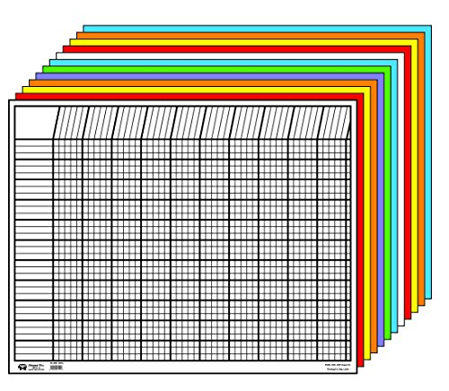 Creative Shapes Etc LLC Creative Shapes Etc Large Horizontal Incentive Chart Set, 28 x 22 Inches, Assorted Color, Set of 12 - SE-367