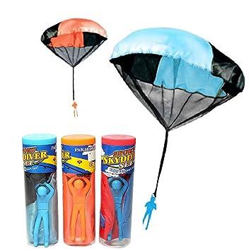 BEETEST Niños bebes deportes al aire libre mano lanzar paracaídas ...