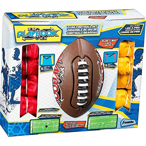 Franklin Sports Playbook Youth Flag Football Set -...