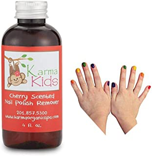 product image for Karma Organic Natural kids nail polish remover Cherry Scented- Nontoxic Vegan Cruelty Free Acetone free – Nails Strengthener for Fingernails – 4 fl. Oz.