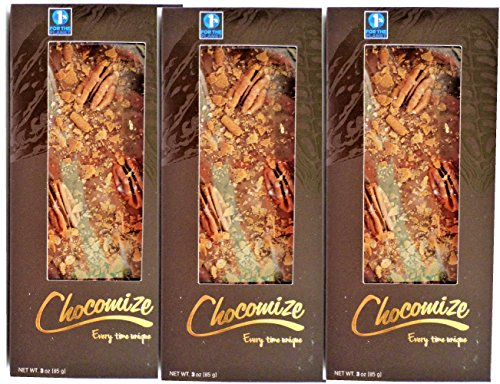 Chocomize Pecan Pie Bar_3 Holiday Bars 3oz each (Pecan Pie Candy)