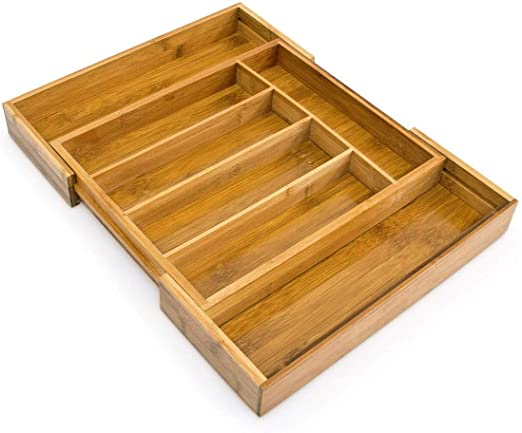Boite A Couverts En Bambou Avec 7 Compartiments Pour Tiroir De Cuisine Extensible 35 42 5 Cm Nexusfn Com Br