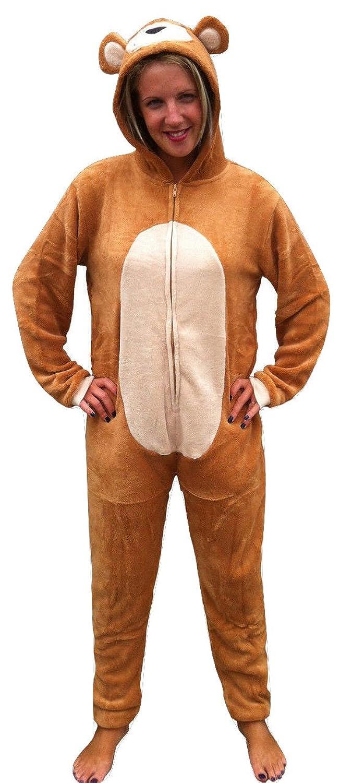 ADULT ANIMAL ONESIE, TEDDY BEAR,WOMENS,LADIES,MENS,CHRISTMAS FANCY ...