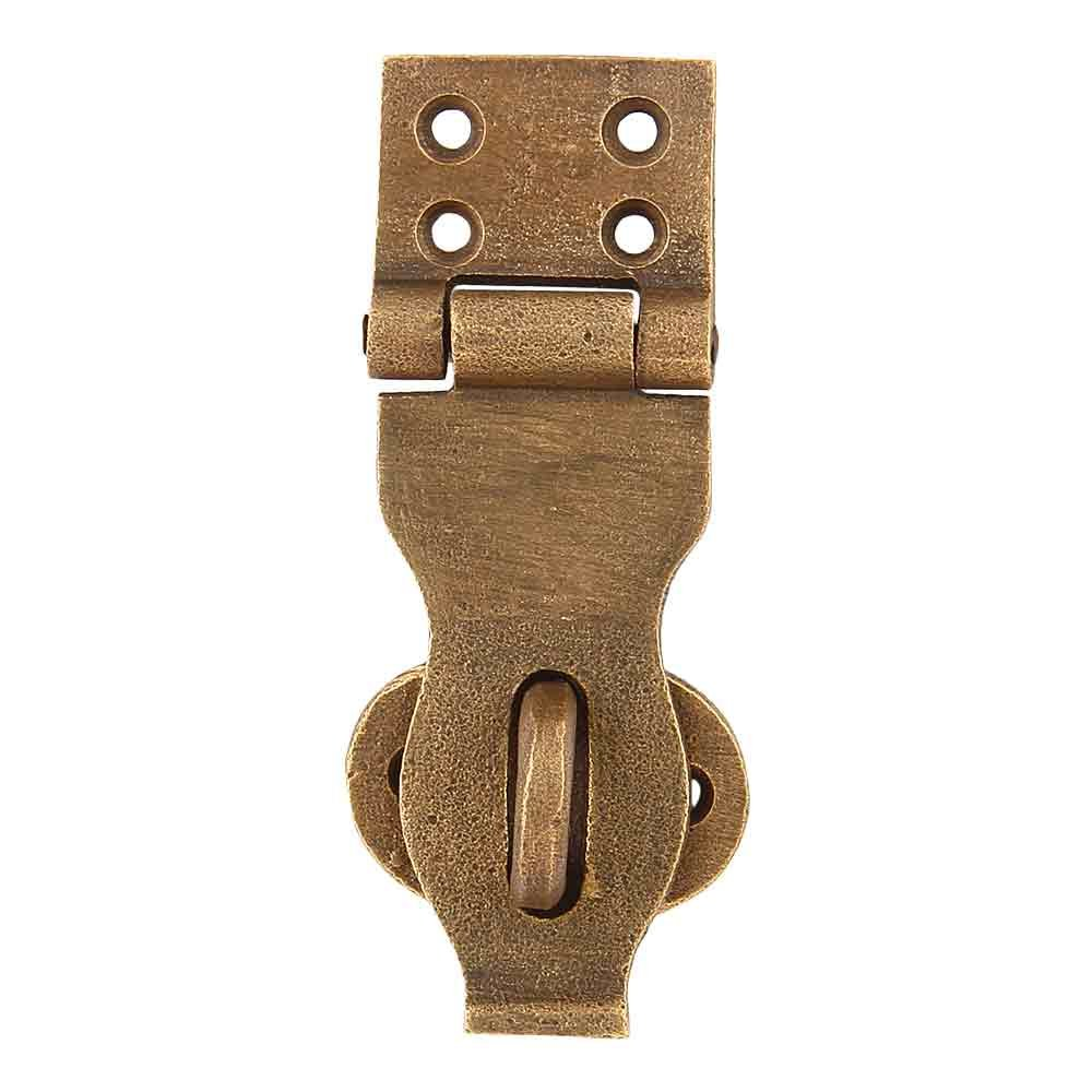 Set of 4 Waxed Bronze Chest/Trunk Hasp 4 Inches Weathered Bronze Finish Safety Latch by A29