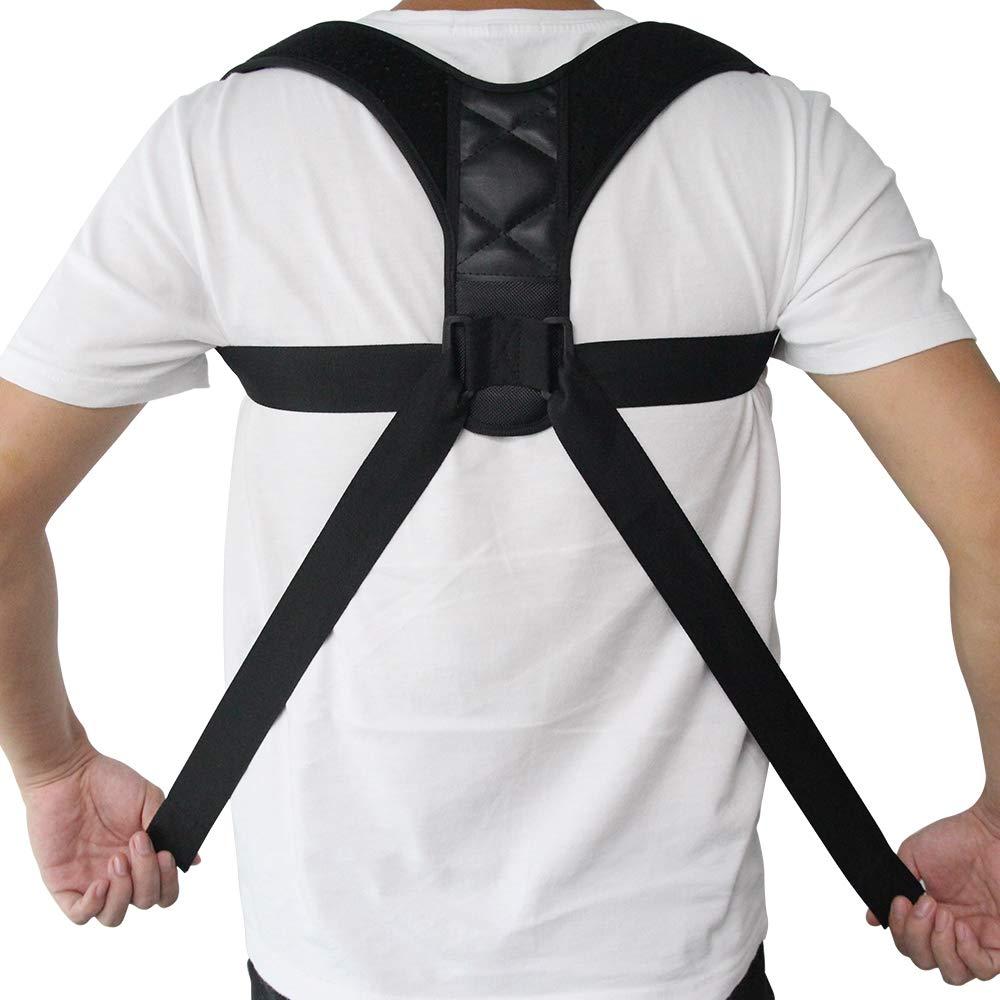 SISHUINIANHUA Adjustable Back Posture Corrector Clavicle Spine Back Shoulder Lumbar Brace Support Belt Posture Correction Prevents Slouching,L