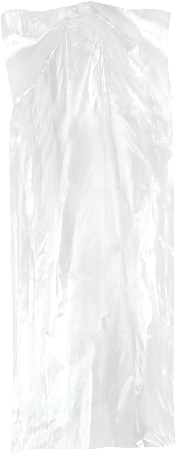 HANGERWORLD 50 Clear 40inch Dry 80 Gauge Cleaning Laundrette Polythylene Garment Clothes Cover Protector Bags.