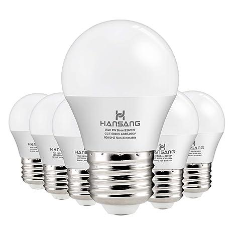 Hansang A15 Led Bulb Light 6 Watt 60w Equivalent E26 Standard