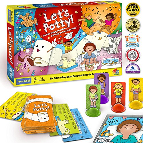 Let's Potty! Potty Training Board Game! No More Diapers, Toilet Train Toddlers Early! (Doll Board Games)