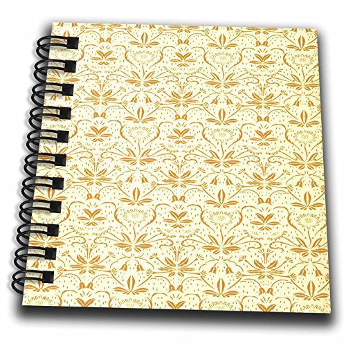 - 3dRose TDSwhite – Patterns Designs - Repeating Pattern Wallpaper Design - Mini Notepad 4 x 4 inch (db_281845_3)