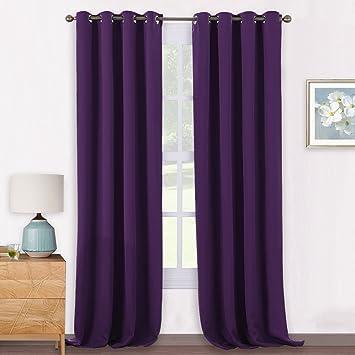 cortinas moradas blackout termicas aislantes pony dance textiles del hogar casa salon dormitorio 140 - Cortinas Moradas