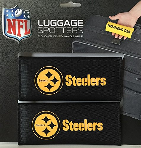 steelers-black-luggage-spotter-suitcase-handle-wrap-bag-tag-locator-with-id-pocket-2-pack-closeout-g